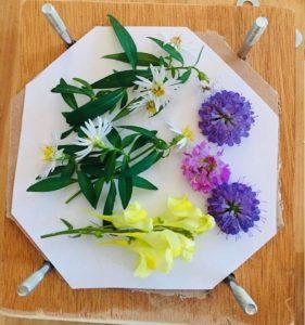 Atelier presse à fleurs