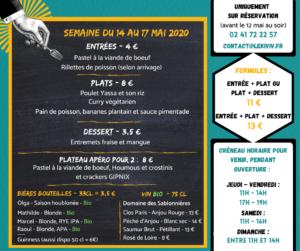 menu à emporter