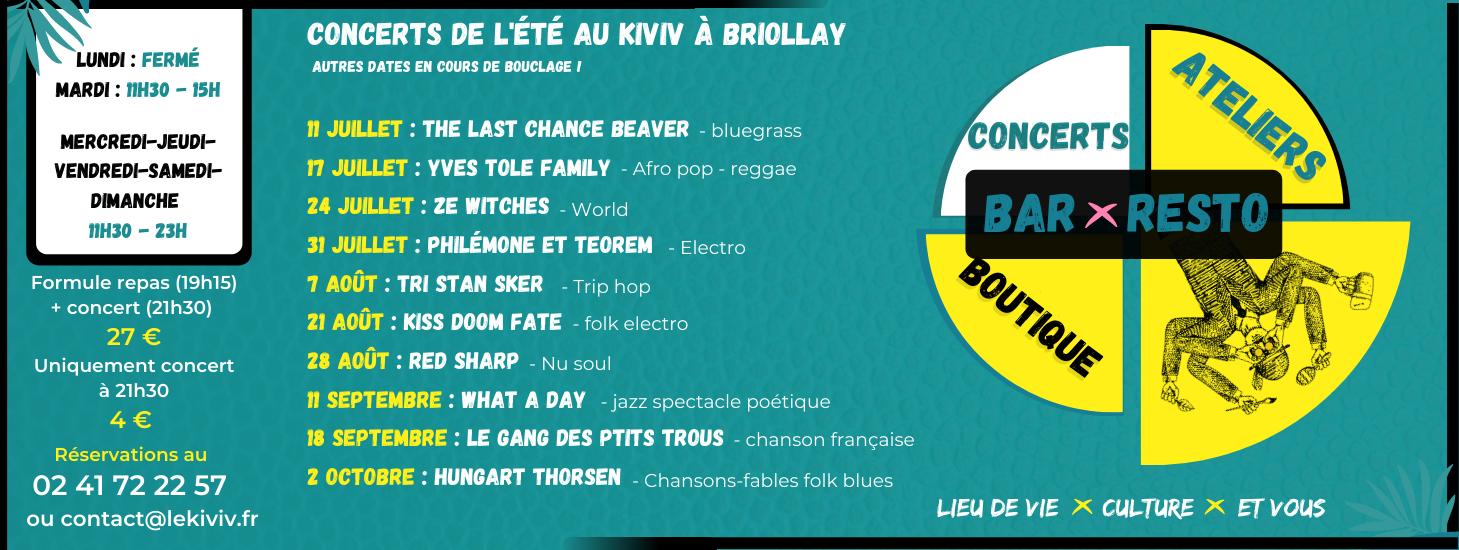 Concerts au Kiviv Briollay