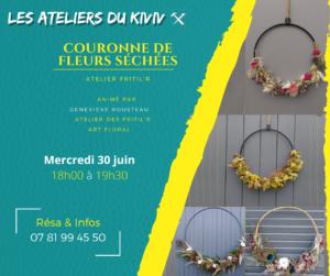 Atelier couronne de fleurs séchées Briollay