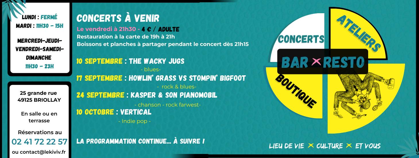 Prog concerts kiviv briollay septembre